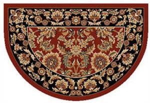 Kashan Half Round Floral Hearth Rugs