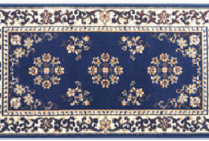 Oriental Blue Classic Hearth Rugs